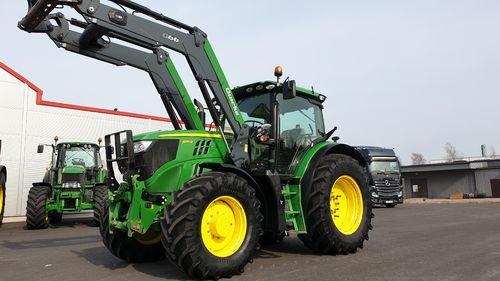 John Deere 6155R AP Lastare + FL AT-ready